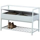 Schuhbank Shoeplace B: 90 cm Weiß - Weiß, Basics, Holzwerkstoff/Metall (90/61/39cm) - MID.YOU
