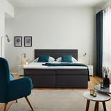 Boxspring Postel Rosa 180 - tmavě šedá, Moderní, dřevo/textil (205/180/103cm) - Modern Living
