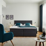 Boxspring Posteľ Rosa 180 - tmavosivá, Moderný, umelá hmota/drevo (205/180/103cm) - Modern Living
