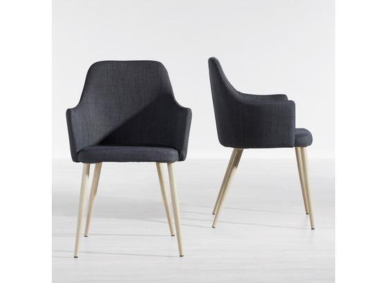 Židle Milenka - šedá, Moderní, kov/textil (58/86/60cm) - Modern Living