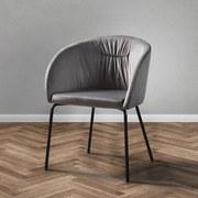 Stolička Vani - čierna/tmavosivá, Moderný, kov/textil (61/81/51cm) - Modern Living