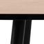 Esstisch Wilma B: 80 cm Eichefarben - Eichefarben/Schwarz, KONVENTIONELL, Holzwerkstoff/Metall (80/80/75cm) - Carryhome