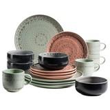 Kombiservice 16-Tlg. Set Spicy Market - Blau/Rosa, Basics, Keramik (54,3/26,1/32,6cm)