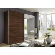 Skriňa Ernie Dekor Orech - barvy ořechu, Moderní, dřevěný materiál/sklo (225/210/65cm)