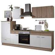 Küchenblock Sonja 270cm Eiche Dekor/ Weiß - Eichefarben/Weiß, Basics, Holzwerkstoff (270/0cm)