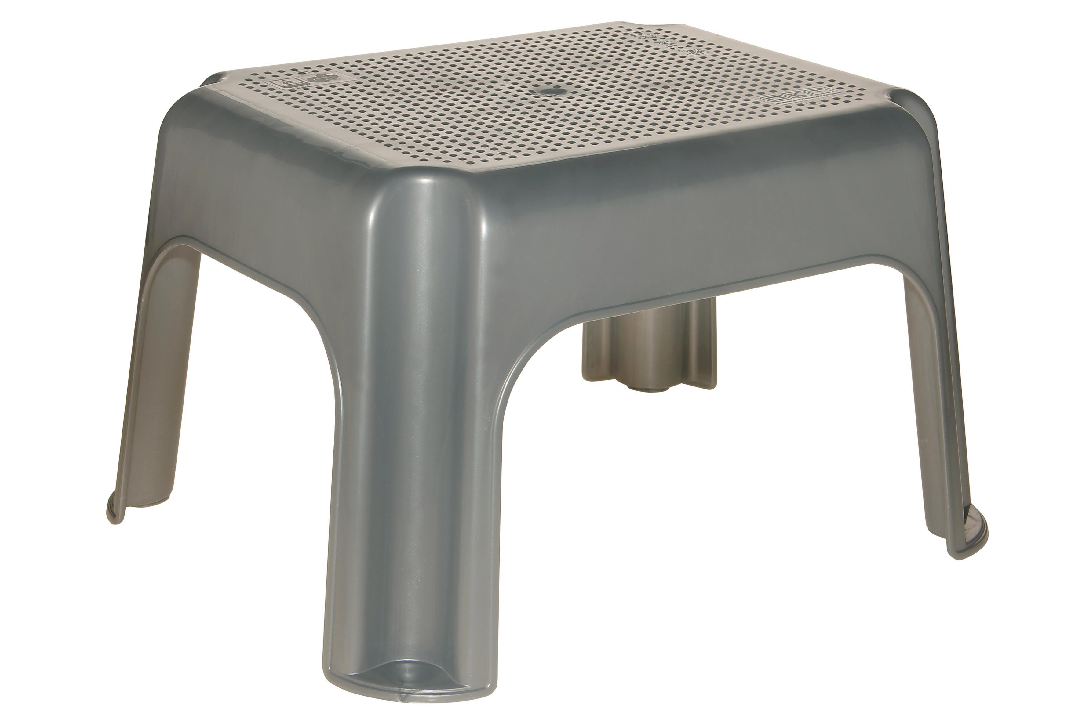 Fellépő Ezüst Színben - ezüst színű, konvencionális, műanyag (36,5/30/24cm)
