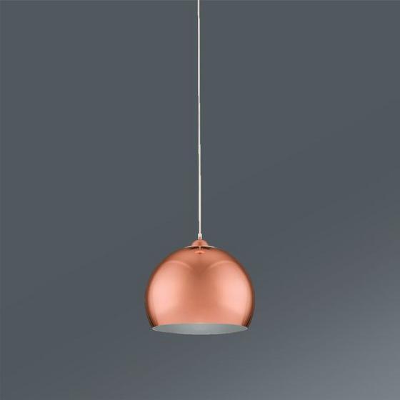 ZÁVESNÁ LAMPA KONRAD -TOP- - farby medi, Moderný, umelá hmota/kov (30/30/150cm) - MÖMAX modern living