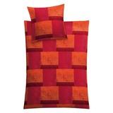 Makosatin Bettwäsche Siena L - Rot, MODERN, Textil - KLEINE WOLKE