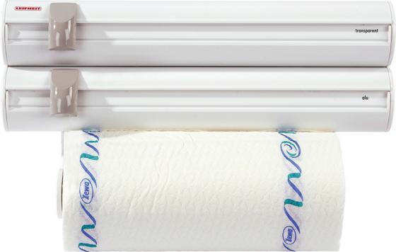 Dreifachhalterung für Küchenrollen - Weiß, KONVENTIONELL, Kunststoff (39/13/15cm) - Leifheit