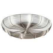 Dekoschale Ø 40 cm - Silberfarben, MODERN, Metall (40/40/7cm)