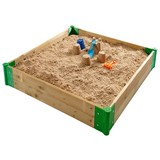 Sandkasten Plum Easy-up - Ahornfarben, MODERN, Holz (110/110/20cm)