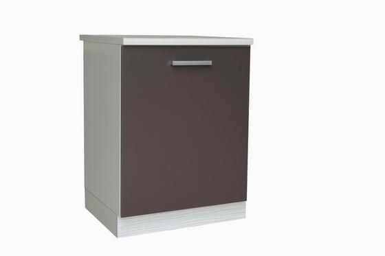 Kuchyňská Spodní Skříňka Margaret - bílá/šedá, Moderní, dřevěný materiál (60/85/52cm)