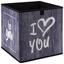 Úložný Box Poppi 7 -based/sb- - sivá/biela, Moderný, kartón/textil (32/32/32cm) - Modern Living