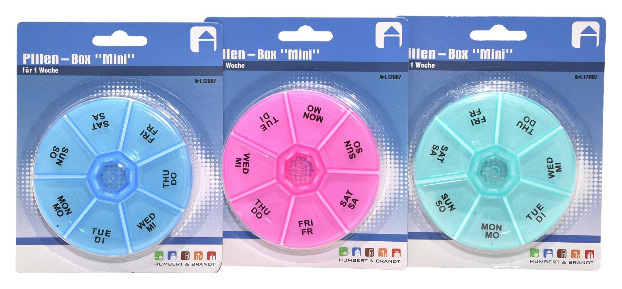 Pillenbox Mini - Rosa/Hellblau, Basics, Kunststoff (9/2cm)