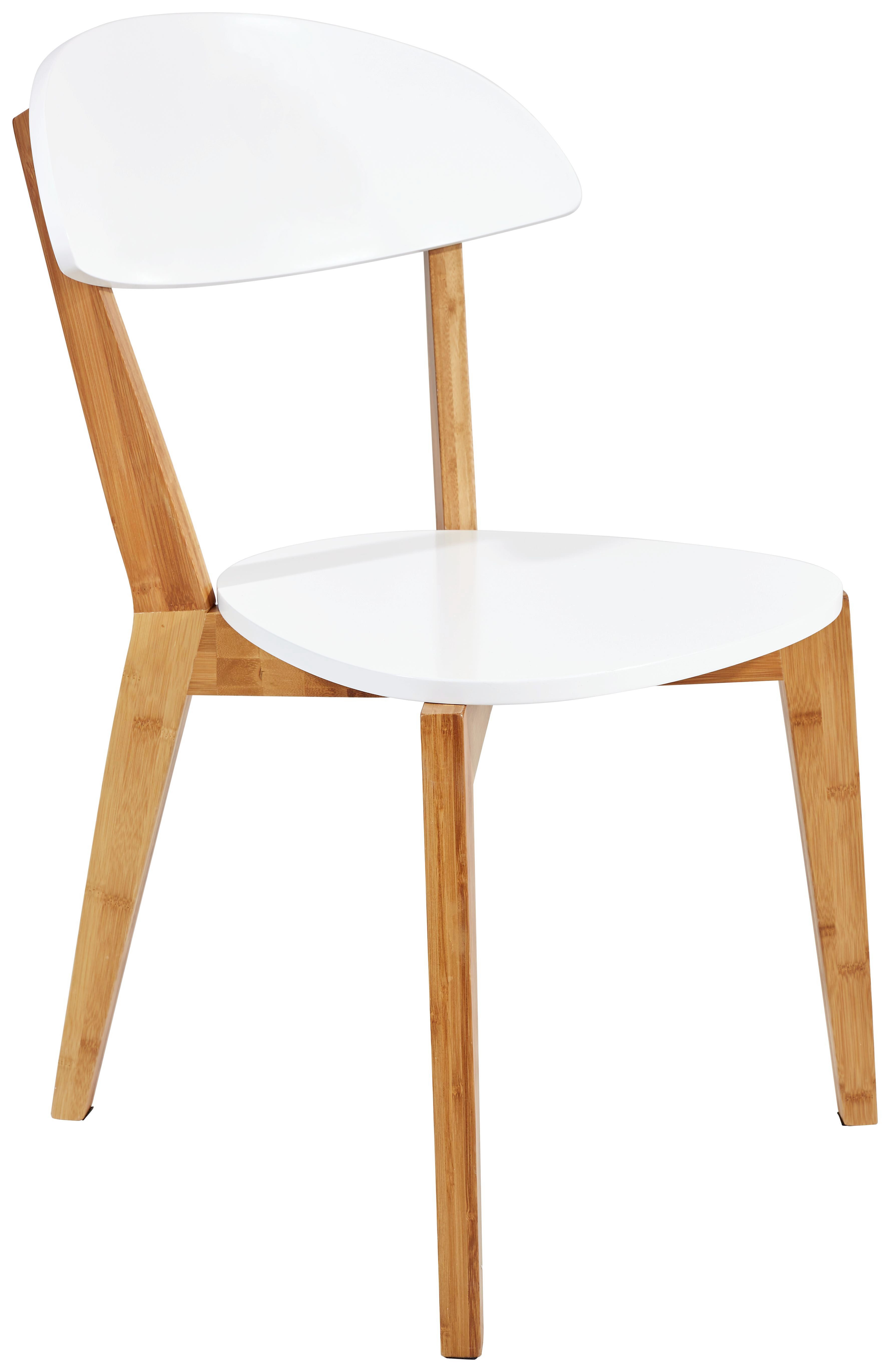 Stuhl Scandi - Braun/Weiß, MODERN, Holz/Holzwerkstoff (47/81/53cm) - Ombra