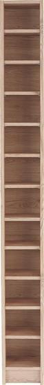 Regál Na Cd Felix - farby dubu, Moderný, kompozitné drevo (20/202,3/17cm) - Sonne
