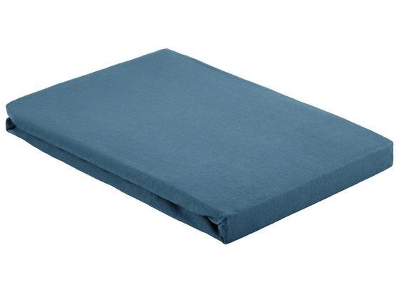 Napínacie Prestieradlo Basic - tmavomodrá, textil (100/200cm) - Mömax modern living