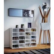 Schuhschrank Hinsol L B/H: 92/67 cm Weiß Dekor - Weiß, KONVENTIONELL, Holzwerkstoff (92/67/33cm) - Livetastic