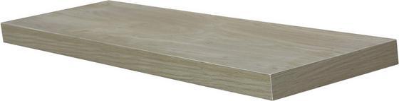 Nástenná Polica Simple 80 - farby dubu, Moderný, kompozitné drevo (80/3,8/23,5cm)