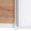 Kleiderschrank Fabio B: 215 cm - Eichefarben/Weiß, KONVENTIONELL, Holzwerkstoff (215/215/62cm)