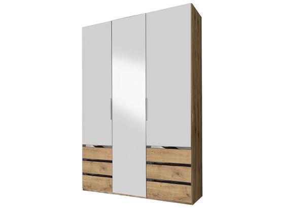 Šatní Skříň Level 36 A - bílá/barvy dubu, Konvenční, kompozitní dřevo (150/236/58cm)