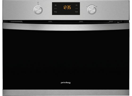 Einbau-Mikrowelle-Backofen PMPK3 4545 IN - Silberfarben/Schwarz, Basics, Glas/Metall (59,5/45,5/53,5cm) - Privileg