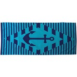 Strandtuch ca. 75/150cm Blau - Blau, MODERN, Textil (75/150cm) - Luca Bessoni