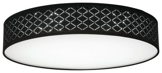 Moderne, runde Deckenleuchte in Schwarz