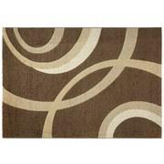 Webteppich Curvy 160x230 cm - Braun, KONVENTIONELL, Textil (160/230cm) - Ombra