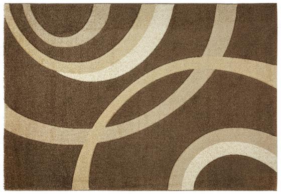 Webteppich Curvy 80x150 cm - Braun, KONVENTIONELL, Textil (80/150cm) - Ombra