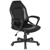 Otočná Židle Lisa - černá, Moderní, textil/umělá hmota (58/101-111/57cm)