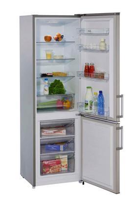 Kühl-Gefrier-Kombination in Edelstahlfarben