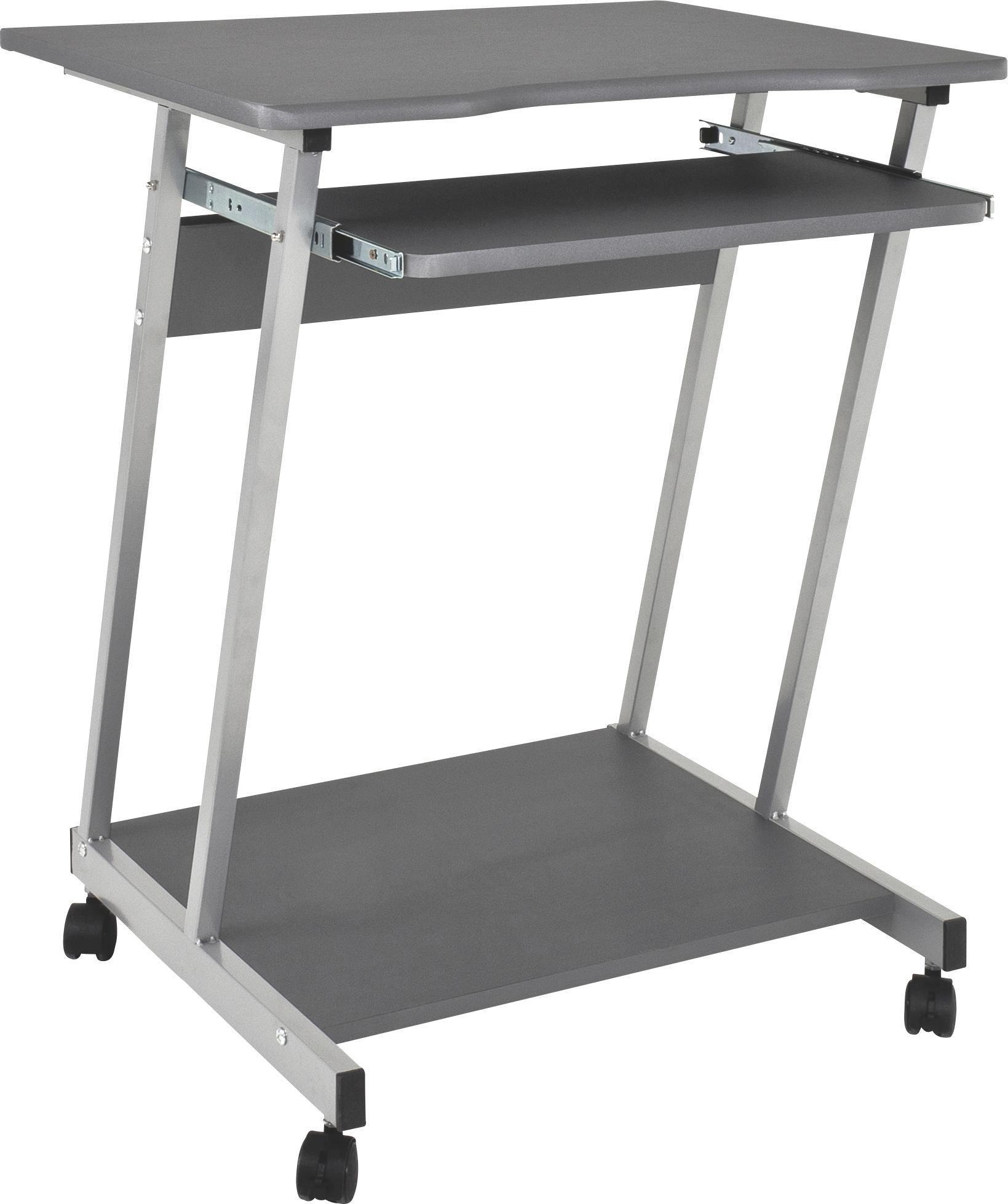 Psací Stůl Print - antracitová/barvy hliníku, Moderní, kov/dřevo (60/75/48cm) - SONNE
