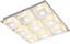 LED-Deckenleuchte Quadralla - Chromfarben, MODERN, Kunststoff/Metall (30/30/4cm)