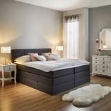 Postel Boxspring Greta - tmavě šedá, Moderní, dřevo/textil (213/184/106cm) - MÖMAX modern living