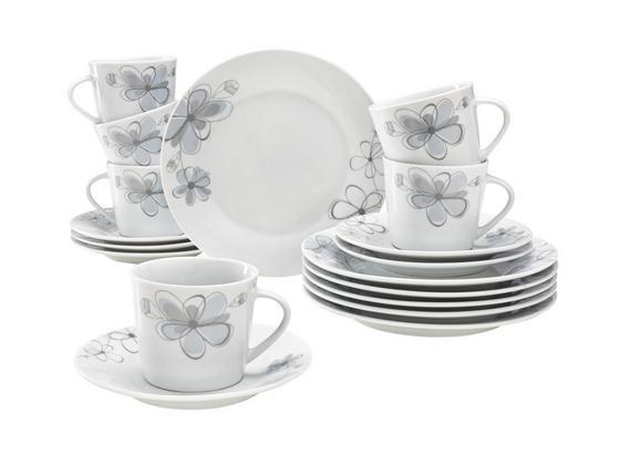 Servis Kávový Cenový Trhák - šedá/bílá, Konvenční, keramika - Based