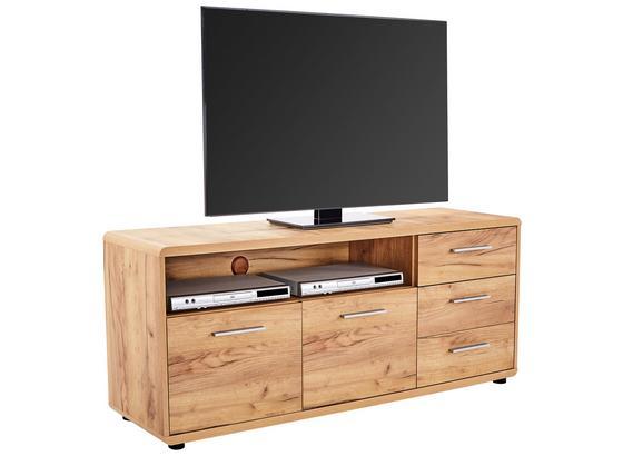 Stolek Na Elektroniku Fontana Ftk07 - barvy dubu, Moderní, kompozitní dřevo (150/60/38cm)