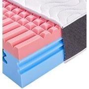 Komfortschaummatratze 3D Deluxe 90x200 - Weiß, KONVENTIONELL, Textil (200/90/30cm) - PRIMATEX