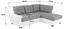 Wohnlandschaft in L-Form Burner 244x174 cm - Hellgrau/Schwarz, MODERN, Textil (244/174cm)