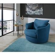 Sessel Ancona B: 124 cm Blau - Blau, MODERN, Textil (124/88/112cm) - Luca Bessoni