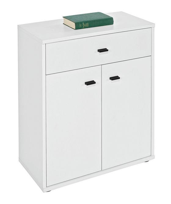 Komoda Boni - bílá, Moderní, dřevěný materiál (60/70/30cm)