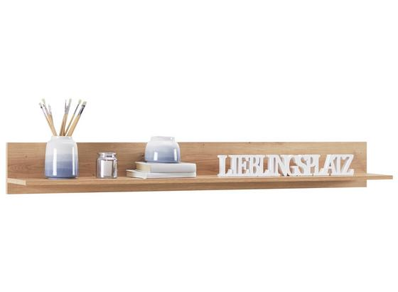 Wandboard Kashmir New B:155cm, Artisan Eiche Dekor - Eichefarben, MODERN, Holzwerkstoff (155/20/20cm) - James Wood