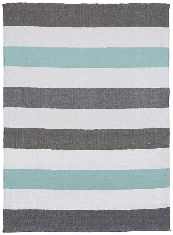 Exteriérový Koberec Stripe - modrá/biela, Moderný, textil (120/170cm) - Mömax modern living