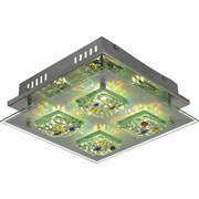 Deckenleuchte Agio - KONVENTIONELL, Glas/Metall (28/28/10cm)