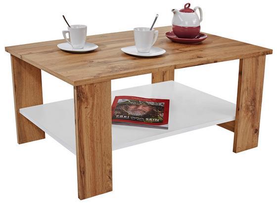 Dohányzóasztal Paolo - Tölgyfa/Sötétszürke, modern, Faalapú anyag (90/41/55cm)