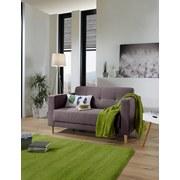 Zweisitzer-Sofa Geneve Webstoff - Anthrazit/Naturfarben, MODERN, Textil (148/81/75cm)