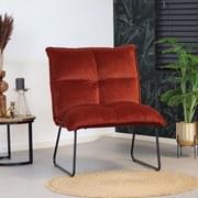 Sessel Malaga B: 68 cm Kupferfarben - Schwarz/Kupferfarben, MODERN, Textil (68/87/66cm) - Livetastic