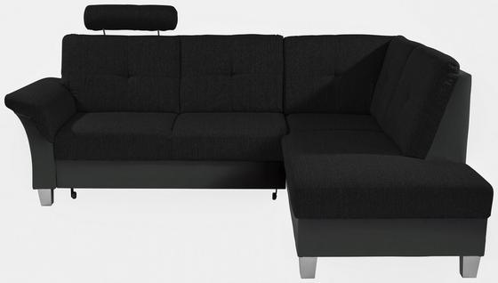 Sedací Souprava Portland - černá/tmavě šedá, Konvenční, kov/dřevo (245/196cm) - Ombra
