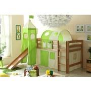 Spielbett Toby R 90x200 cm Grün/ Beige - Beige/Naturfarben, Natur, Holz (90/200cm) - Carryhome