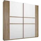 Skriňa Bernau 226 Cm - farby dubu/biela, Moderný, drevený materiál (226/210/62cm)